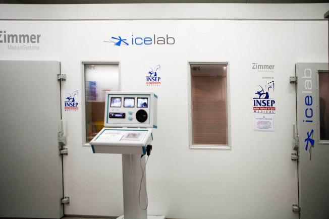 Cryothérapie à l'INSEP